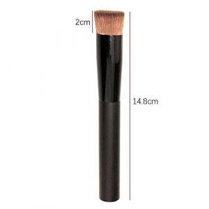 VANKER Professionnel Pinceau Maquillage Visage Liquide Poudre Fondation Brosse Concave Noir (DDU FR, neuf)