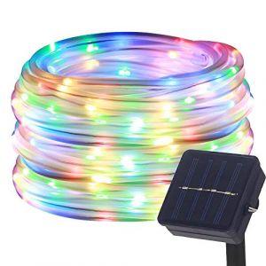 DULEE Guirlande Tube Lumineuse Solaire 10M 100 LED Tube Lumineux Extérieur étanche Lumière de Fée Décorative,Colorée (DULE, neuf)
