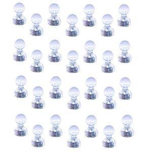 Aimants à poussoir Magnetpro, Paquet de 28 punaises magnétiques puissantes, Aimants parfaits pour tableau blanc, réfrigérateur, carte et calendrier. (MagnetproA, neuf)