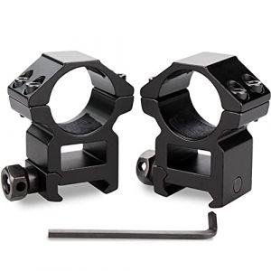 KINSUNG Montage pour Lunette De Visée Rail De Support - diamètre 25,4 mm - Rail 20mm (MuyaArt, neuf)