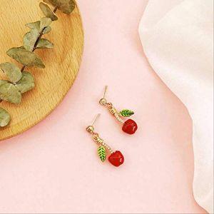Boucles d'oreilles vacances gland rouge perle boucles d'oreilles déclaration géométrique boucles d'oreilles cadeau boucle d'oreille vintage fleurs amour pour les femmes4 (Graceguoer, neuf)