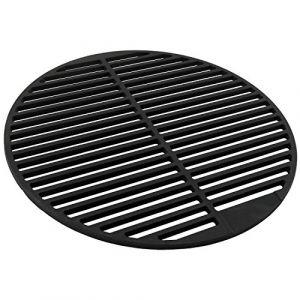 Grille en fonte massif et émail, rond, différentes tailles au choix, pour barbecue au charbon de bois Barbecue à gaz et plus Ø 45 cm noir (CS Trading, neuf)