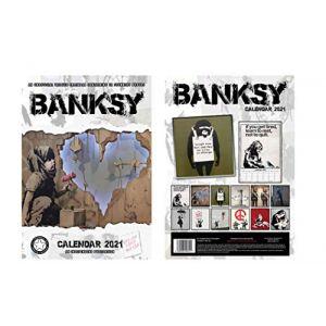 BRANDNEU BANKSY CALENDRIER 2021 WITH BANKSY AIMANT DE RÉFRIGÉRATEUR (World Of Magnets, neuf)