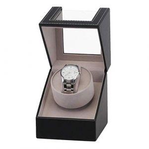 Boîte de montre Remontoir automatique de montre, remontoirs mécaniques de montre en cuir d'unité centrale avec moteur japonais avancé, vitrine de Organiser à bascule automatique for boîtier de montre (AiSiWeiDianZi, neuf)