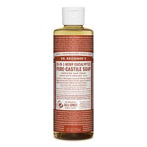 DR BRONNERS - Savon liquide bio à l'eucalyptus Castille, 237 ml (lot de 1) (Ponera, neuf)