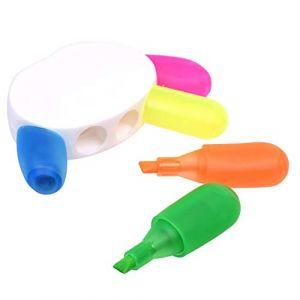 Surligneur en forme de main - 5 couleurs - Pointe fine - Couleurs fluo - Pour bureau, école (Toolsgo, neuf)