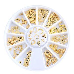 Holzsammlung 1 Boîte de Petit Strass Decoration Ongles Gel Tip Glitter rond Coloré en Résine pour Nail Art Manucure #47 (collecte de bois, neuf)