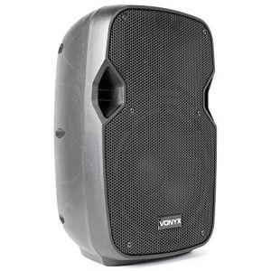 """Vonyx AP800 Enceinte Passive 8"""", 200 Watts, Haut-Parleur Passif, Grave medium puissant, Enceinte nomade et solide, Sono professionnelle, Tophat pour Trépied, Connexion Speakon NL4 (Z-Bombilla, neuf)"""