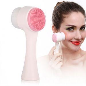 Brosse de nettoyage du visage, mode doux double côtés du visage Nettoyage en profondeur Brosse visage Soins de la peau Brosse de nettoyage (Sinbuy-EU, neuf)