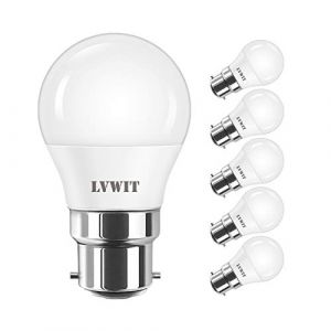 5W Ampoule LED B22 G45, LVWIT 470Lm Equivalente a 50W, 6500K Blanc Froid, Non-Dimmable, Lot de 6 (LED MALL, neuf)