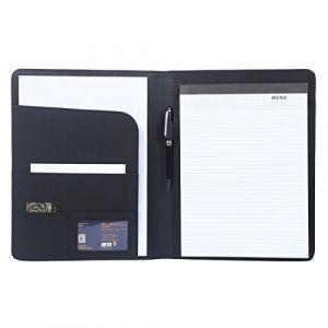 Leathario-Portfolio en cuir PU pour bureau, porte document en cuir, agenda d'affaires en cuir, chemise de dossier en cuir, Chemise document en cuir pour directeur (LederleiterEU, neuf)