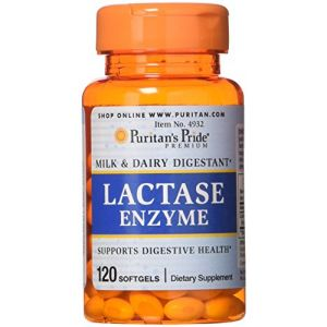 Puritan's Pride Lactase Enzyme 125 mg-120 Softgels (DG Supplements, neuf)