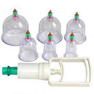 Shager Coupes Silicone Anti Cellulite Minceur Aspiration Sous Vide Massage Thérapeutique + Pompe à Air Soins de Santé (6pcs) (Shager, neuf)