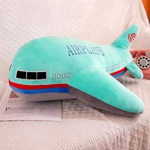 Peluche jouet avion enfant modèle poupée chiffon poupée garçon oreiller enfant cadeau d'anniversaire-vert_65 cm (lizhaowei531045832, neuf)