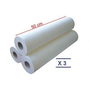 MFB Provence® - Drap d'examen 50 cm - ouate - blanc protection épilation - 3 rouleaux (MFB Provence, neuf)
