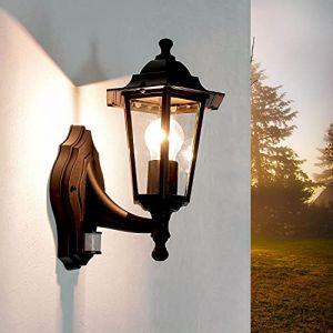 Lumière d'extérieur nostalgique Paris avec détecteur de mouvement IP44 Lampe murale applique (Licht-Erlebnisse, neuf)