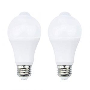 Bonlux 7W E27 PIR Infrarouge Ampoule LED avec Détecteur de Mouvement ON/OFF Automatiquement A60 220V 700lm équivalent 70W Halogène pour Escalier Couloir Garage?Lot de 2, Blanc Froid 6000K? (NiceTe uk, neuf)