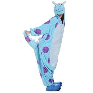 mauea Pyjama Animaux Cosplay Halloween Costume Déguisement Combinaison Vêtement de Nuit Adulte Femme Homme Unisexe (Monstre,XL) (Mauea Shop, neuf)