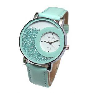 coffret montre femme cuir turquoise strass cristal + bracelet double tour stardust dolce vita (MONTRE-STYLE, neuf)