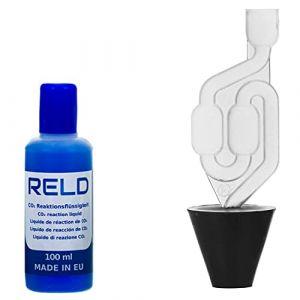 RELD Joint de Cylindre testeur CO2 Fuite Liquide Refroidissement Universel pour Toutes Les Voitures et Motos, testeur de Fuite de CO2 Rapid Engine Leak Detector pour 50 Tests (EURAKOP-FR, neuf)