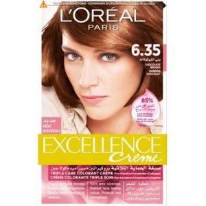 Excellence Crème L'Oréal brun chocolat 6.35 (Dealon, neuf)