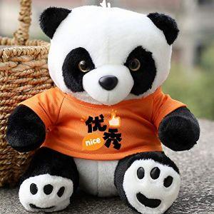 Poupée Panda En Peluche, Cadeau De Poupée De Poupée De Chiffon, Cadeau Pour Enfants Assis 22 Cm De Haut Orange (lizhaowei531045832, neuf)