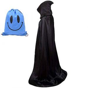 Myir Cape à Capuche Adulte Unisexe Cosplay Costume Halloween Party Déguisement Wicca Vampire Cape Longue (Noir, L) (Myir, neuf)