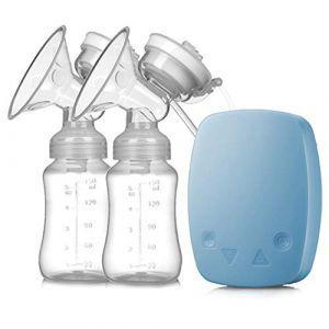 Améliorer Tire-lait électrique Double, Silencieux Pompe d'allaitement Double Sans BPA,Blue (SMS ShangHang, neuf)