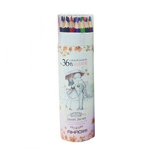 Sanwood Couleurs Artiste Dessin Coloré Crayons à papier d'écriture (Sanwood, neuf)