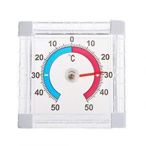 Chiic 1pièce Intérieur Extérieur Thermomètre Mural de fenêtre sans Fil Moniteur de température Jardin Maison Serre (Chiic, neuf)