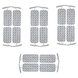 16 electrodes pour electrostimulateur SPORT-ELEC - 10 x 5 cm - pads pour électrostimulateurs SPORT ELEC équipés d'électrode filaire de 2 mm - électrode patch musculation - electrostimulation TENS EMS (axion GmbH, neuf)