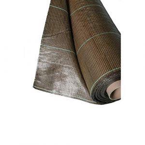 130g/m2 Toile Bache de paillage tissée Marron Anti-Mauvaises Herbes Largeur 3,3m Longueur 50m (www.cascades-inox, neuf)