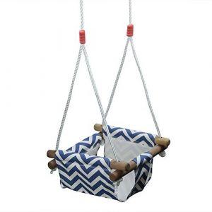 PELLOR Balançoire bébé Intérieur Siège à Suspendre en Toile Bois Chaise Se Balancer Housse en Tissu Extérieur pour Bebe 6 Mois - 3 Ans (Xunlefei, neuf)