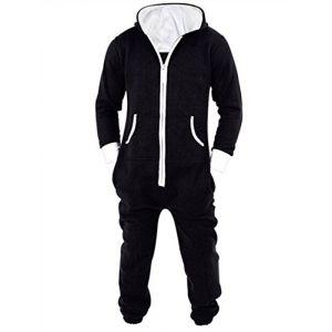 L-Peach Unisexe Pyjamas Combinaison Zippée à Capuche Adulte Jogging Onesie Cosplay Costume Noir XXL (Little-Peach, neuf)