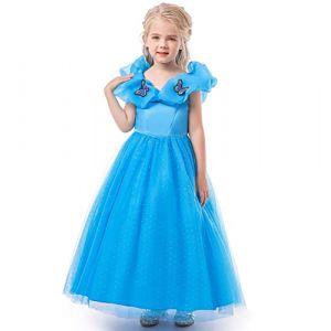 ELSA & ANNA® Filles Reine des Neiges Princesse Partie Costumée Déguisements Robe de Soirée FR-FBA-CNDR4 (6-7 Ans, FR-CNDR4) (UK1STCHOICE-ZONE, neuf)