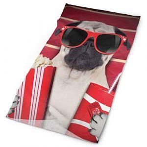 Headwear Headband Head Scarf Wrap Sweatband,Funny Dog Watching Movie Popcorn Soft Drink And Glasses Animal Photograph Print,Sport Headscarves For Men Women (xinyeucn, neuf)