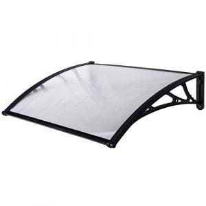 WerkaPro 10846 - Marquise en Polycarbonate - 80x150cm - Noir - Traitée anti UV (Provence Outillage, neuf)