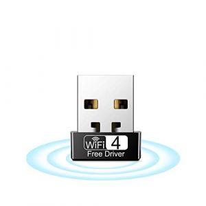 Aigital WiFi Adaptateur Clé WiFi 150Mbps (2.4G/150Mbps),Mini USB WiFi dongle,pour Ordinateur de Bureau PC Compatible avec Windows 10/8/7/Vista/XP (Aucun Disque CD requis) (Aigital-EU, neuf)
