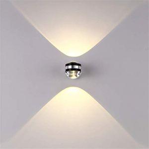 Louvra Applique Murale Intérieur LED 6W Lampe Décorative Moderne Créatif Originale Éclairage Design Lumiaire Aluminium pour Chambre Maison Couloir Salon Blanc Chaud (Louvra, neuf)