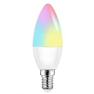 CLIUS Ampoule LED Intelligente E14/E12/E27/2 R - pour Chambre à Coucher, Maison, Chambre, Maison, Maison, Smartphone, intensité Variable - 5 W - 6 W (E141pc), 1pc, E12, 5.0W 265.0V (charglius, neuf)