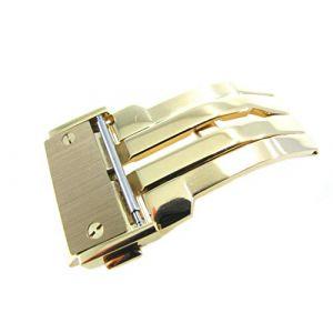 Jrrs7777 22 mm bracelet de montre en acier inoxydable Papillon déploiement 1 N14 Doré Boucle Bracelet pièces Coupe Hublot (JRRS7777EUR, neuf)