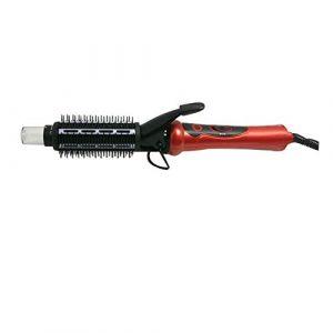 3-en-1 styler brosse à fer à friser, brosse à cheveux ronde et fer plat/fer à lisser - anti-brûlure (DeKang Shop, neuf)