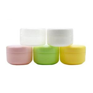 6PCS 100ml 3.5oz Vide-Rechargeable Crème Visage Plastique Protège-Oeil Pot Contenant Pot Lip Balm Lotion Rangement Maquillage Cosmétiques Jars Porte-Bouteille Avec Coque Intérieure (Rose) (erioctry-1, neuf)