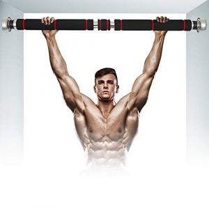 You's Auto Barre de Traction Porte sans Fixation réglable de 60 à 100 cm,Barre de Musculation Robuste Chargeable jusqu'à 150 kg pour Tractions d'entraînement Musculation (Style 2) (Comficent, neuf)