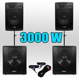Pack 151515 Sonorisation 3000W Caisson bi-amplifié (SONO-ENERGIE, neuf)