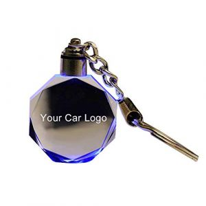Steellwingsf Porte-clés en verre découpé à LED pour Audi VW Benz Ford BMW, multicolore, for b-mw (Steellwingsf, neuf)