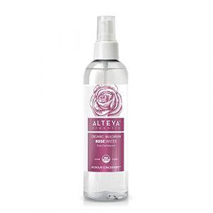Alteya Organic Eau de rose bulgare 250m Spray - Certifiée 100% organique USDA, Pure, naturelle, bio et authentique, Eau florale distillée à la vapeur à partir de pétales fraiches de fleurs de Rosa Damascena bulgare, Vendue directement par le producteur et