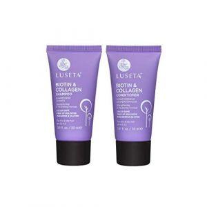 LUSETA Shampoing Anti-Chute de Cheveux et Après Shampoing de Biotine et Collagène Idéal pour la perte des Cheveux, Favorise la croissance des Cheveu, 2 x 30ml (INWORLD BEAUTY SUPPLY, neuf)