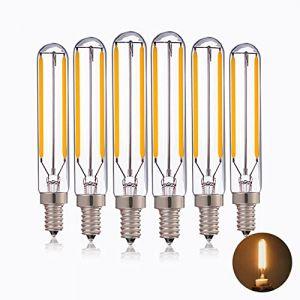 2W tubulaire LED ampoule à incandescence,T20/T6 Edison LED longue suspension d'éclairage 20w remplacement Incandescent Blanc Chaud 2700K Vintage E14 Candelabra base non graduables 5 Pack (Genixgreen, neuf)