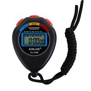 Sport Chronomètre numérique, fonte Power étanche multifonction Minuteur Arrêt Montres Horloge avec grand écran électronique, idéal pour le sport fitness Trainer et Arbitre, noir (autumn-wind, neuf)